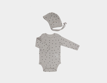 baby organic body suit(grey)